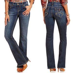 KFTK Natalie high rise Bootcut jeans flap pocket